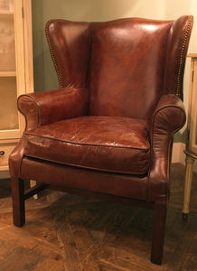 Leather Wing Back - furniture