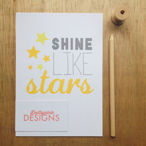'Shine Like Stars' Print - posters & prints