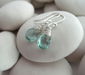 Aquamarine Quartz - 'mother of the bride' fashion and accessories