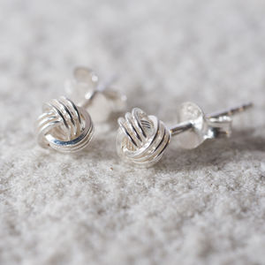 Tying The Knot Sterling Stud Earrings - earrings