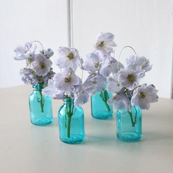 Turquoise Miniature Single Stem Bottle