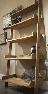 Handmade Lean To Shelf Unit Reclaimed Aged Wood - shelves