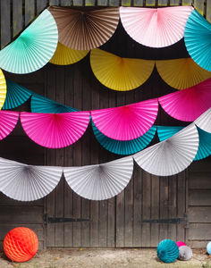 Paper Fan Bunting Garlands - summer parties
