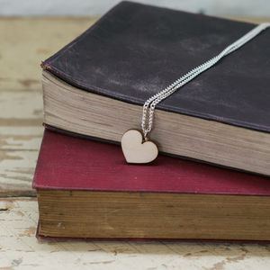 Wooden Heart Necklace - necklaces & pendants