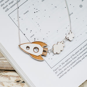 Rocket Ship Necklace