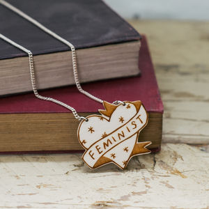 Feminist Illustrated Necklace