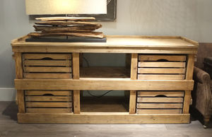 Reclaimed Aged Pine Sideboard - furniture