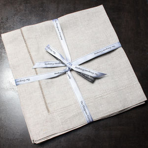 Pure Natural Linen Napkins Set Of Four