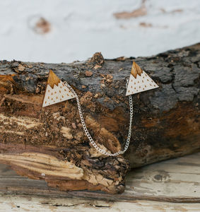 Mountain Peak Wooden Collar Clips
