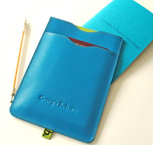 Leather Passport Sleeve With Notebook - passport & travel card holders