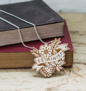Feminist Floral Necklace - necklaces & pendants