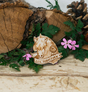 Parks And Rec Brooch 'Lil' Sebastian'