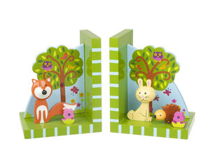 Woodland Friends Bookends - children's room
