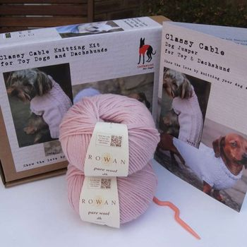 Knitted Dog Jumper Kit Toy And Dachshund