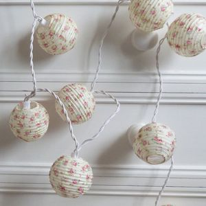 Vintage Rose Paper Lantern Lights - lighting