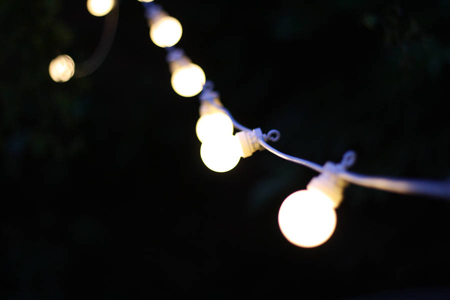 outdoor string of light bulbs extendable length 6m by the wedding of my dreams ...