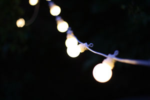 Outdoor String Of Light Bulbs Extendable Length 6m - outdoor lights