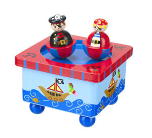 Wooden Dancing Pirate Music Box - traditional toys & games