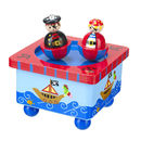 Wooden Dancing Pirate Music Box