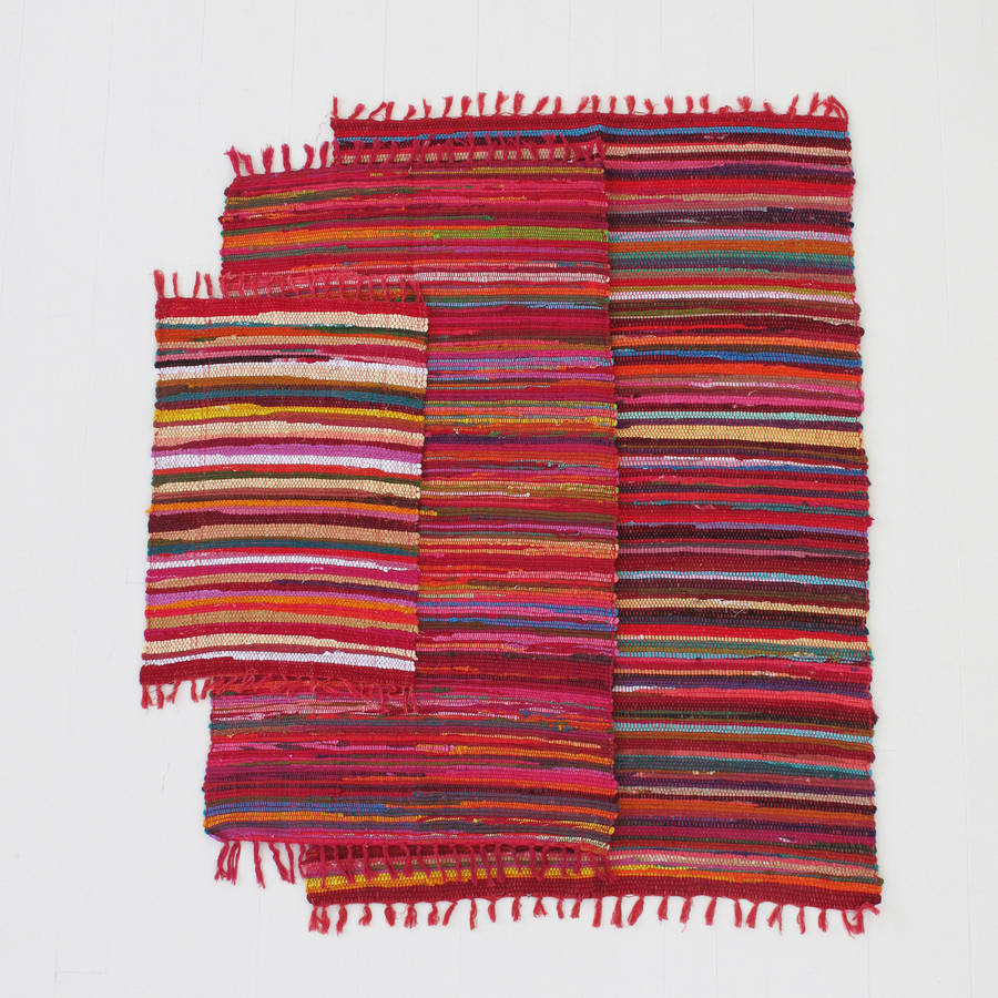Handloomed Cotton Rag Rugs