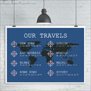 Personalised Travel Destinations Print