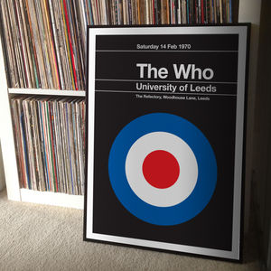 The Who Remixed Gig Poster