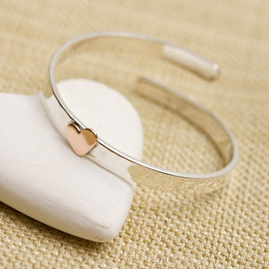 Gold Heart Personalised Christening Bangle - christening gifts