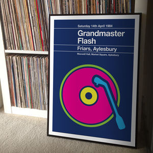 Grandmaster Flash Remixed Gig Poster