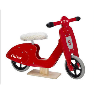 Personalised Red Wooden Balance Scooter