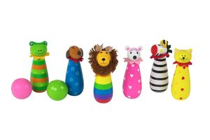 Wooden Animal Skittles - outdoor toys & games