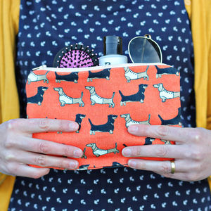 Dachshund Large Zipped Purse - womens