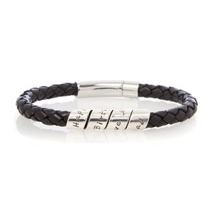 21st Black Men's Scroll Bracelet