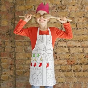 Christmas Doodle Apron To Personalise   Child - aprons