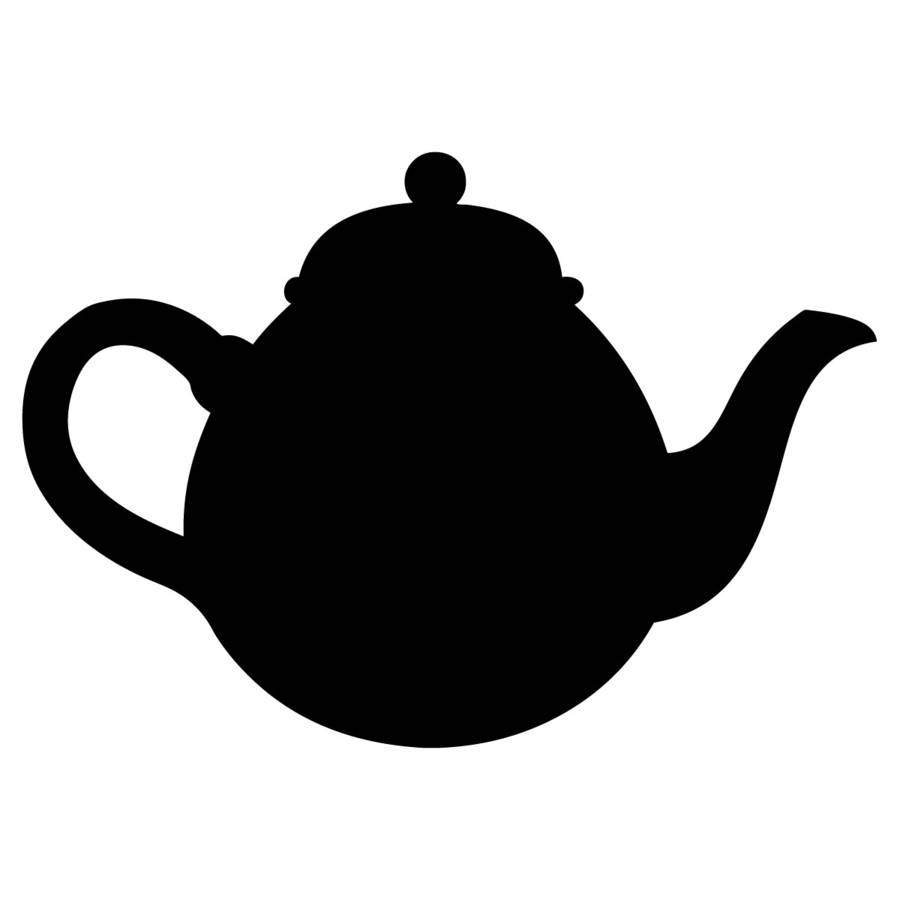 Teapot Chalkboard Wall Sticker By Spin Collective