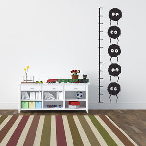 Dust Bunnies Height Chart Wall Sticker - wall stickers