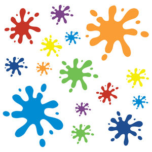 Paint Splat Wall Stickers - wall stickers