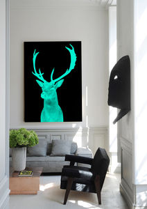 Stag Night, Ready To Hang Canvas Art - art & pictures