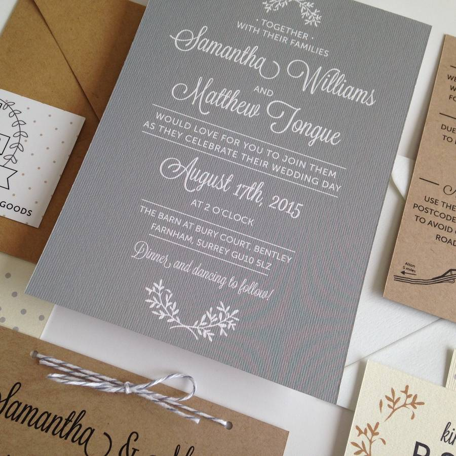perfect day wedding invitation by pear paper co, Wedding invitations