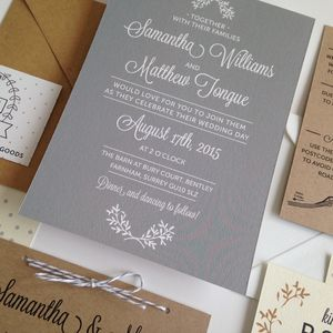 Perfect Day Wedding Invitation - woodland inspired
