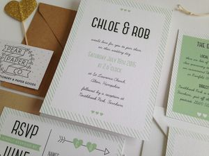 Young Love Wedding Invitation - wedding stationery