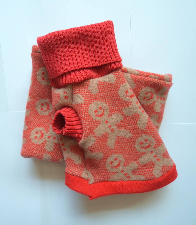 gingerbread man dog jumper and scarf gift set by willieratbag notonthehighs...