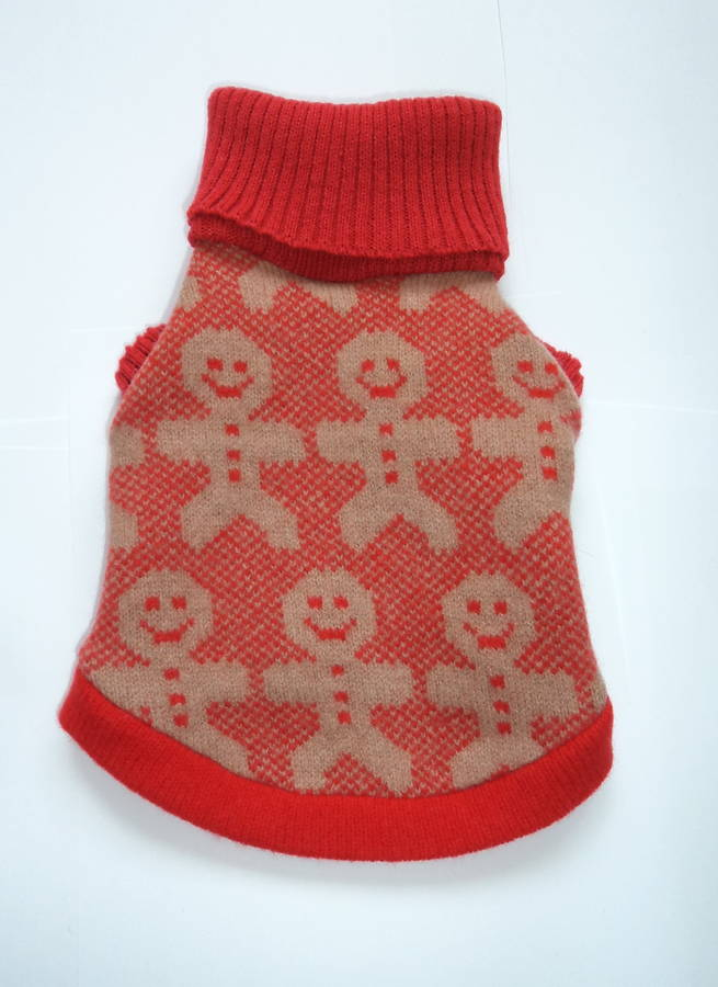 Gingerbread Man Jumper Knitting Pattern : gingerbread man dog jumper and scarf gift set by willieratbag notonthehighs...