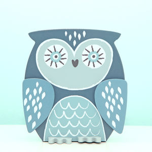 Wooden Wise Owl Money Box Bank