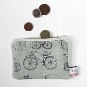 Bicycle Small Zipped Purse
