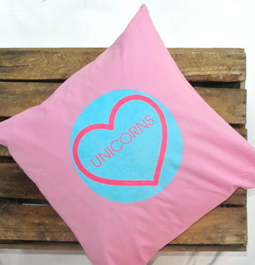Bright 'Unicorns' Cushion - children's cushions