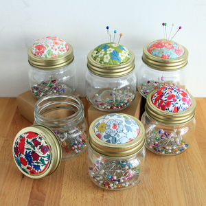 Liberty Fabric Pin Jar - leisure