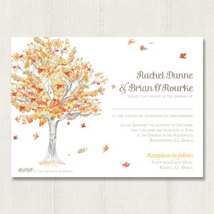 Autumn Tree Invitation - wedding stationery