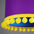 Pom Pom Trim Lampshade Choice Of Colours