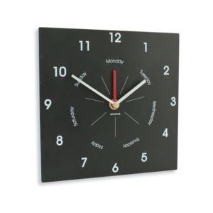 Eco Recycled Wall Clock With Day Of The Week - clocks