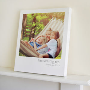 Polaroid Style Canvas Print - gifts for him